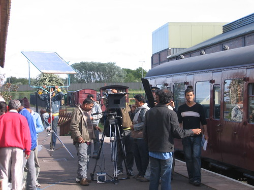 Bollywood filming at private railway