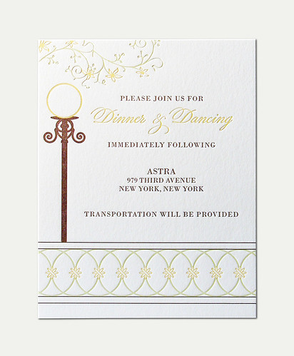 SC&MM Wedding Reception Invitation