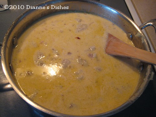 Creamy Potato Soup: Cream Added