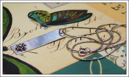 Sterling & Bali silver pendant