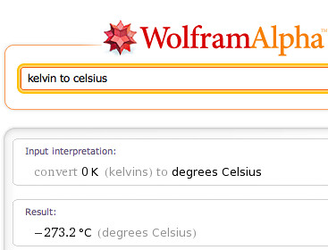 kelvin to celsius
