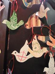 United Underground event, Queen Elizabeth Hall, Southbank, London Feb 2010 (craftivist collective) Tags: london peace sudan southbank conflict badges doves craftivism wishtree britishunderground miniprotestbanner ctrlaltshift unitedunderground craftivistcollective
