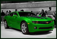 2010 Chevrolet Camaro Synergy Special Edition (Cygnus~X1 - Visions by Sorenson) Tags: auto winter usa chicago green chevrolet car truck canon eos illinois automobile unitedstates autoshow camaro explore chevy february limitededition synergy 2010 mccormick spotcolor selectivecolor mccormickplace specialedition ef24105mmf4lisusm colorphotoaward cmwdgreen 5dmkii craigsorenson 2010chevroletcamaro camarosynergyspecialedition 2010chicagoautoshow 2010chevroletcamarosynergyspecialedition synergygreen 20100224064111z