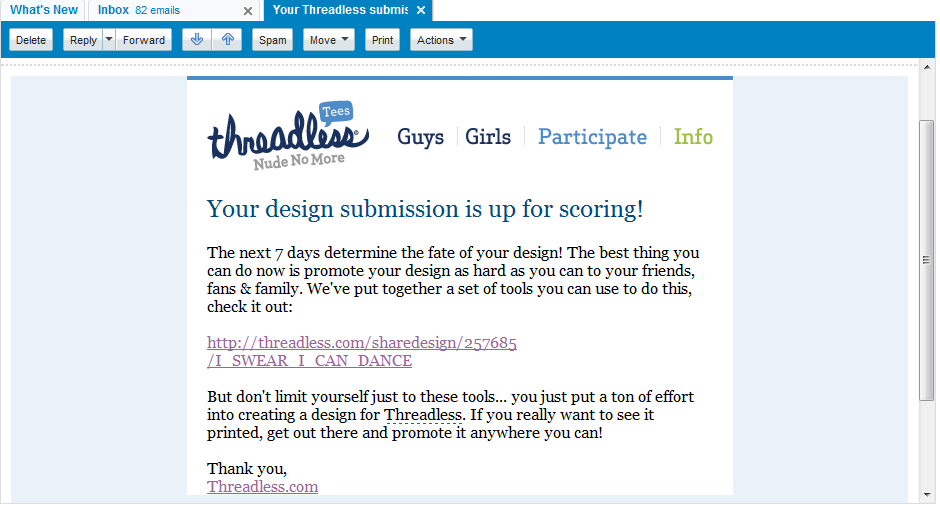THREADLESS APPROVE FOR SCORING