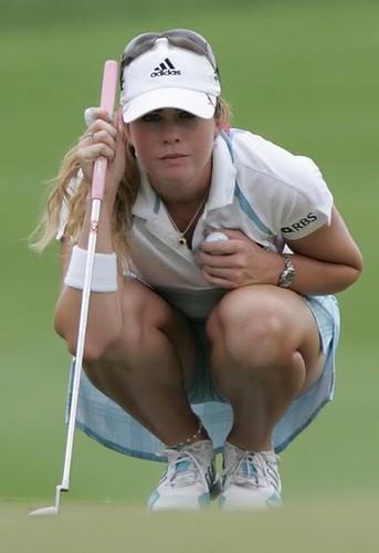 Creamer golf upskirt