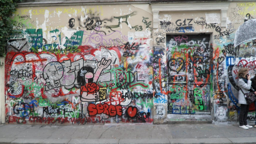 Serge Gainsbourg's place, Paris