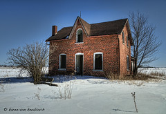Nobody Home! (KvonK) Tags: winter brick abandoned farmhouse rural country hdr 5exposures subtlehdr nikond300s 18to200mmvrll