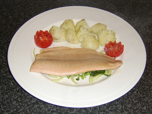 Fillet of Scottish Rainbow Trout with Salad and Dill Potatoes