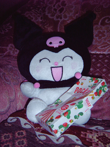 Kuromi plush with Pocky