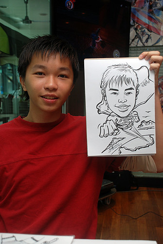 Caricature live sketching for M Hotel - 2