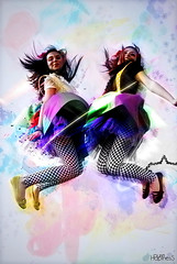 pureHapinesS (Rockgelio15) Tags: girl lines yellow photoshop watercolor hair happy cool jumping shoes energy paint map squares background explosion manipulation dresses saul pure hapiness splats displacement flyng morin rockgelio ureo