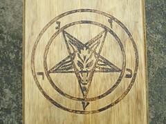 Sigil Of Baphomet (dragonoak) Tags: wood box custom occult witchcraft pagan baphomet