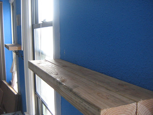 wood blue white window found bedroom shelves cyberpunk salvaged