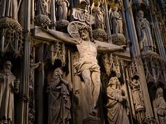 INRI (miltonmic) Tags: christ unitedkingdom crucifix inri hertfordshire stalbans jesuschrist kingofthejews crucified e510 stalbansabbey reredos olympuse510 iesusnazarenusrexiudaeorum miltonmic 1260mmf284