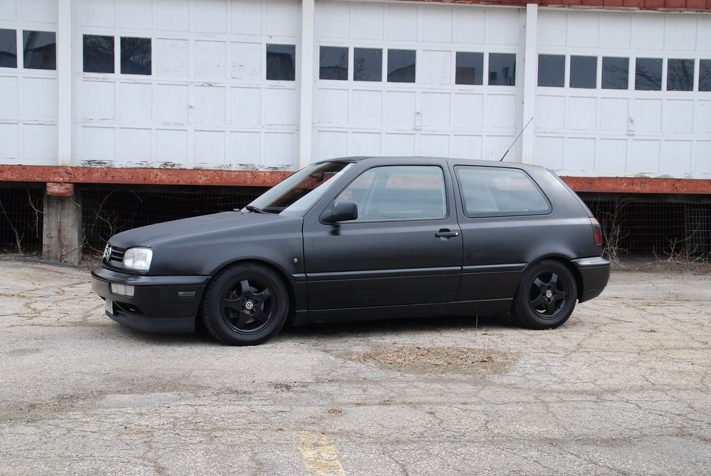 98 GTI Krylon Satin Black Rattle Can Spray Bomb