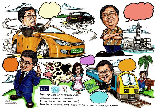 Caricature montage for Attorney-General Singapore 2010 - no caption A2