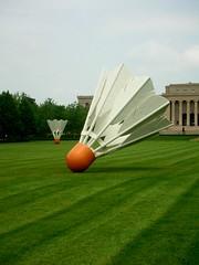 giant shuttlecocks (amysept) Tags: travel sculpture art museum roadtrip kansascity missouri badminton shuttlecock