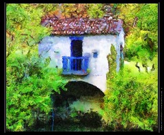 Coja - Old boathouse (jpatt1954) Tags: portugal digitalpainting boathouse 2008 dap digitalmanipulation paintingfromphotograph olympusc70z coja pscs3 pp2010 riveralba