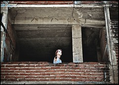 headinwall (sherpabear) Tags: travel west building brick mannequin window advertising mexico photography coast spring missing arm sale zihuatanejo brownhair nevena