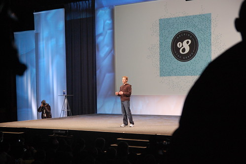 Mark Zuckerberg delivers the f8 keynote