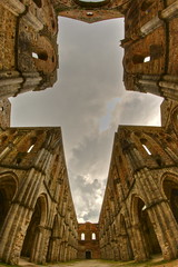 La croce / The cross (AndreaPucci) Tags: italy abandoned church abbey clouds ruins italia nuvole day cross cloudy chiesa tuscany siena toscana croce rovine abbazia sangalgano canoneos400 sconsacrata deconsacrated abbandonat andreapucci samyang8mmfisheye