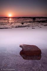 Calm Sunrise (-yury-) Tags: ocean sunset sea sun seascape beach nature water rock sunrise canon landscape sydney australia mk2 5d longreef northernbeaches calmscene
