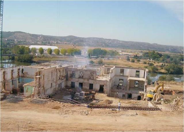 Construcción del Hotel Hilton en el Palacio de Buenavista en 2006. Foto Ayuntamiento de Toledo, plan de Ordenación Municipal