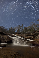 Woolshed Falls Star Trail (night photographer) Tags: moon motion blur water star waterfall long exposure trails australia victoria falls full woolshed beechworth