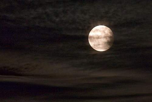 Cloudy moon eclipse...