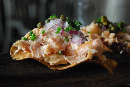 Two - Smoked Salmon Chips