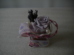 composizione floreale con rosa stabilizzata