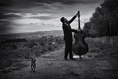 last poet (alfredodigiorgio) Tags: street picture poetry musician artist music jazzmusic contrabass photograph blackwhite last poet poetryinpicture