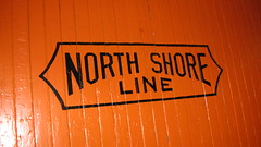 Chicago, North Shore & Milwaukee corporate logo. The Illinois Railway Museum. Union Illinois. Friday, July 3rd 2009.