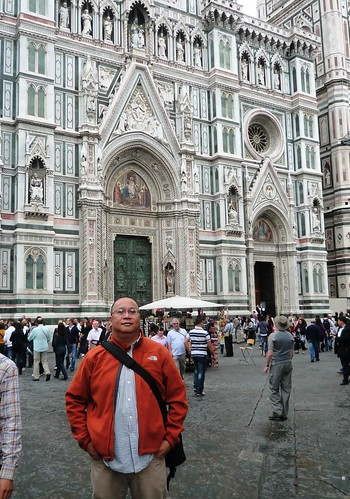 In front of Florence's Duomo