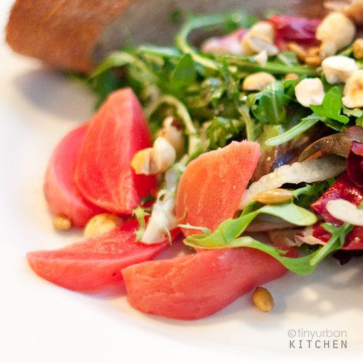 Duck confit, beet salad
