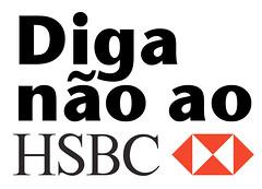 diga não ao HSBC
