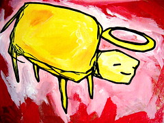 buffalo (starheadboy (no trades)) Tags: painting acrylic starhead starheadboy forgottenworkschallenge2009 30paintingsin30days