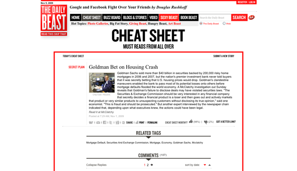 Goldman Bet on Housing Crash - The Daily Beast_1257453272814