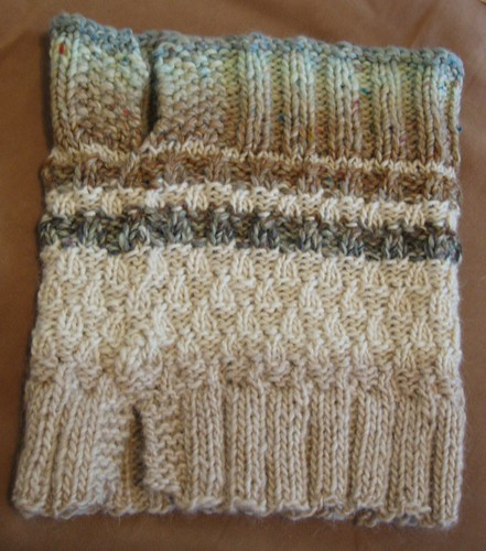 091107. polar ice caps neck warmer. unfolded.