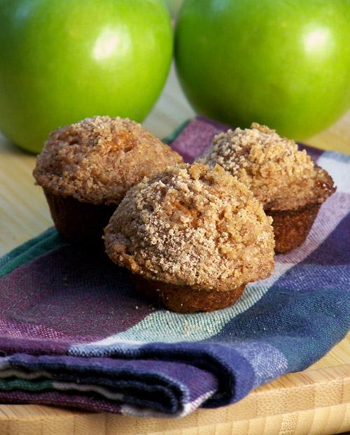 Pumpkin Apple Streusel Mini-Muffins