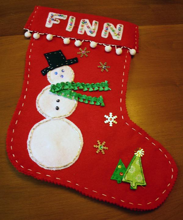 Finished Christmas Stocking