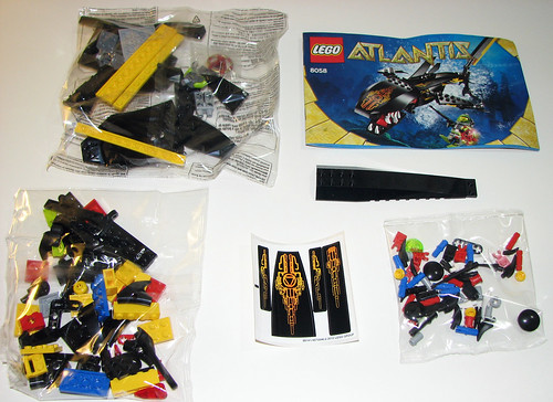 LEGO Atlantis 8058 - Guardian of the Deep - Parts/Stickers/Manual