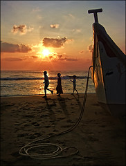 Your Journey begins soon... (P.C.P) Tags: life light shadow sea water sunrise children boat walk journey pcp pcpsk59