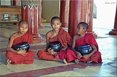Young Monks, Myanmar (Nancie (Ladyexpat)) Tags: temple asia monks myanmar mandalay youngmonks nanciemckinnon ladyexpat
