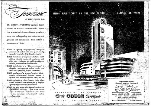 Vintage Ad #969: Grand Opening of the Odeon Toronto
