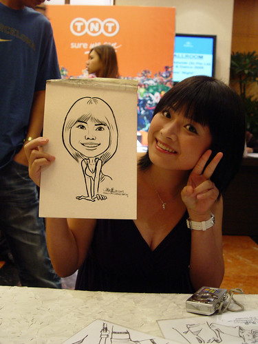 Caricature live sketching TNT Express Worldwide D&D 2009 - 6