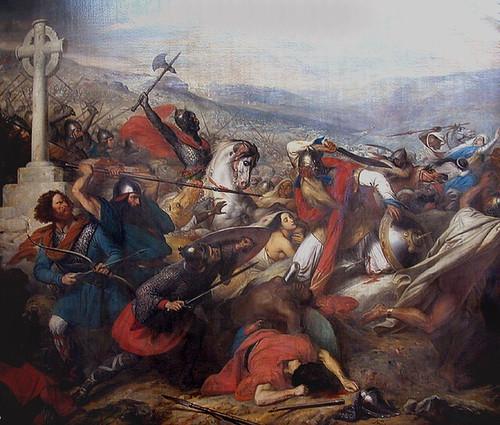 Charles Martel à la bataille de Poitiers, composition fantaisiste de Charles Steuben (XIXe siècle)