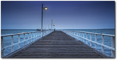 Urangan Pier - Twighlight on Yesteryear (Damien Melksham) Tags: night bay coast pier long exposure hervey fraser hdr twighlight urangan