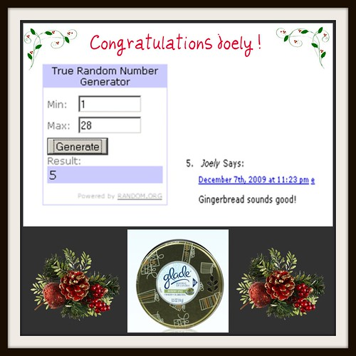 Glade Holiday Candle Tin Winner
