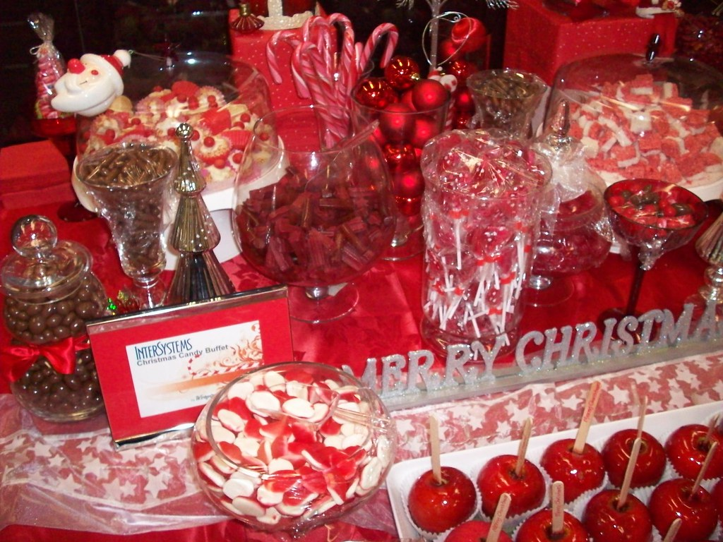 Christmas Candy buffet bar